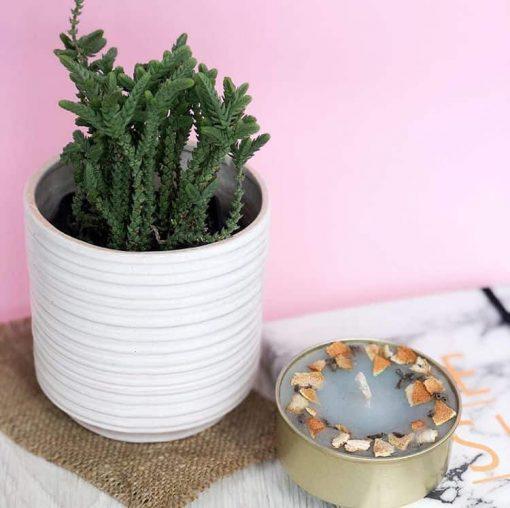 Керамический горшок Цилиндр белый - Фото 1