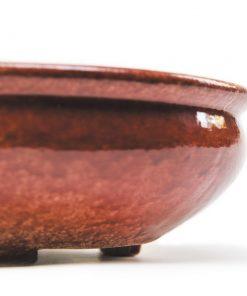 Керамическая плошка Овальная 1л Бордовая- Фото 4